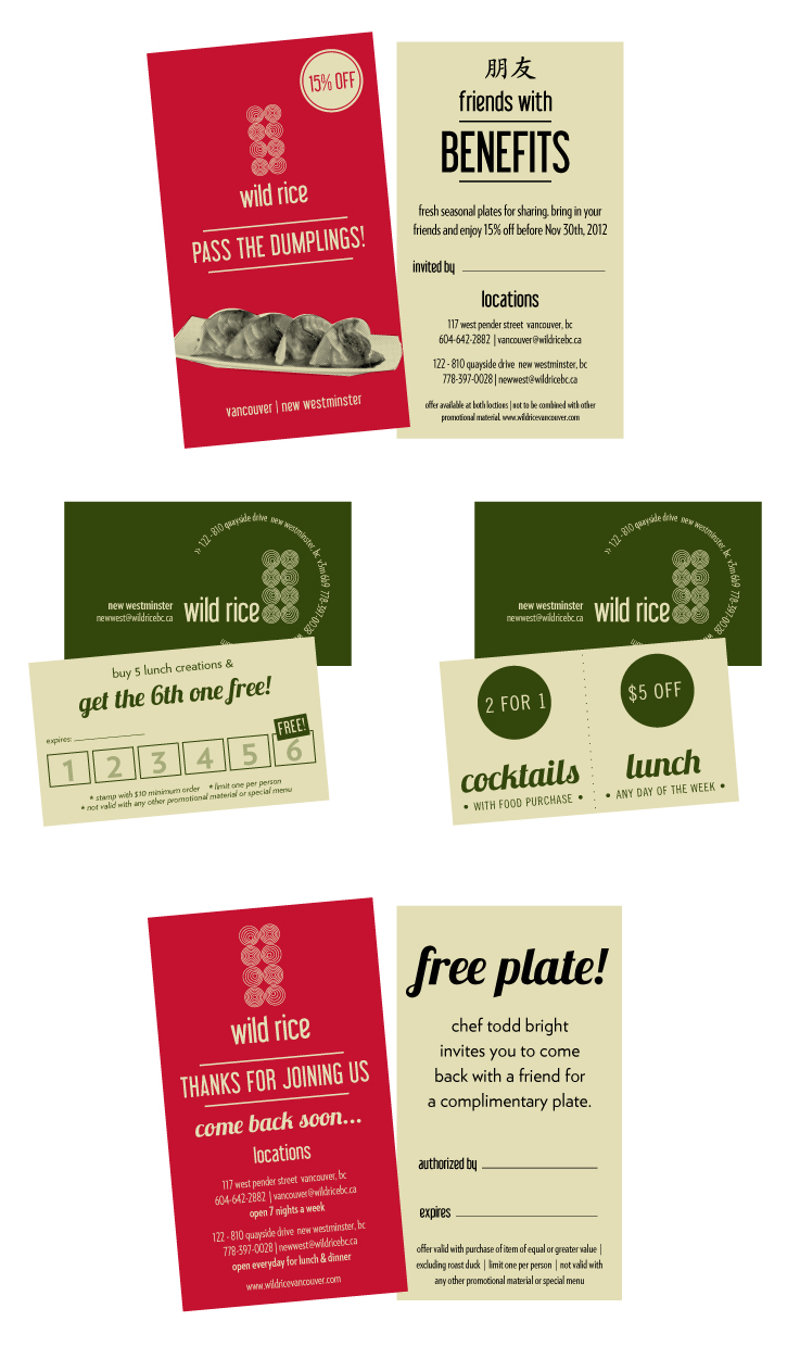 Wild Rice Vancouver+New Westminster | Promotional Material