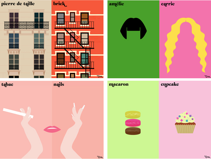 Paris vs Ny Illustrations