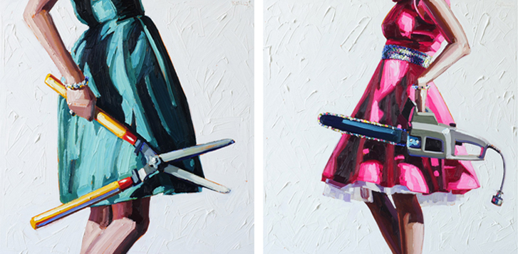 Murder Wives Paintings by Kelly Reemtsen