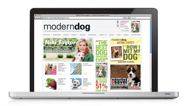 Modern Dog Magazine | Website Design