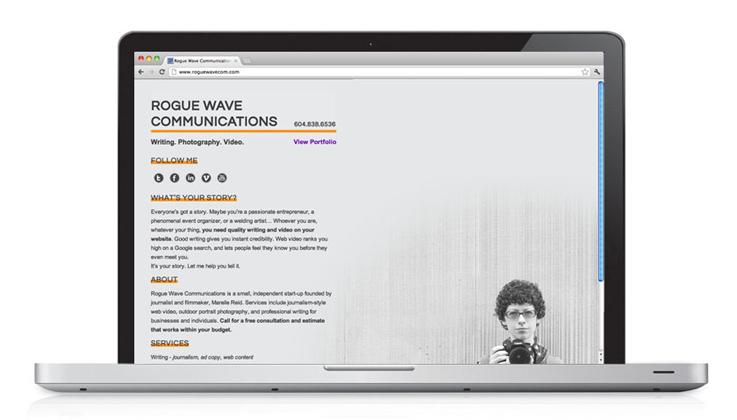 Rogue Wave Communications | Website Design
