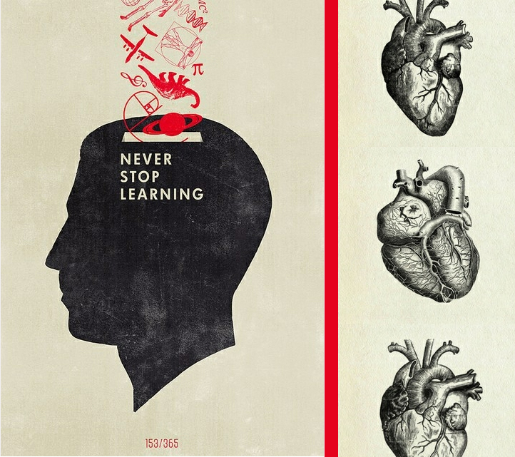 Never Stop Learning Illustration