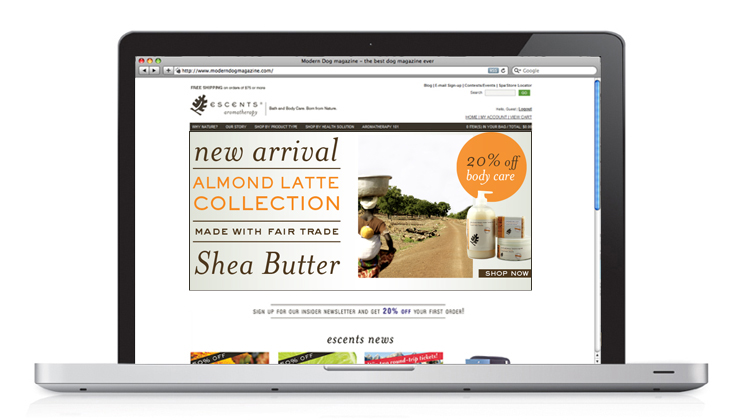 Homepage Shea Butter Promotion | Escents | Alicia Carvalho