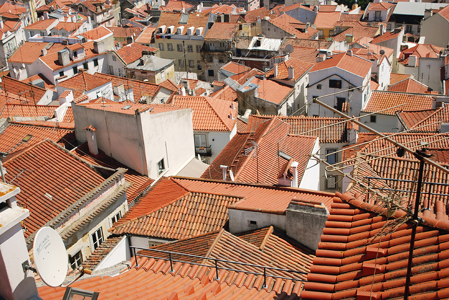 Looking down at the rooftops of Lisbon, Portugal | www.alicia-carvalho.com/blog