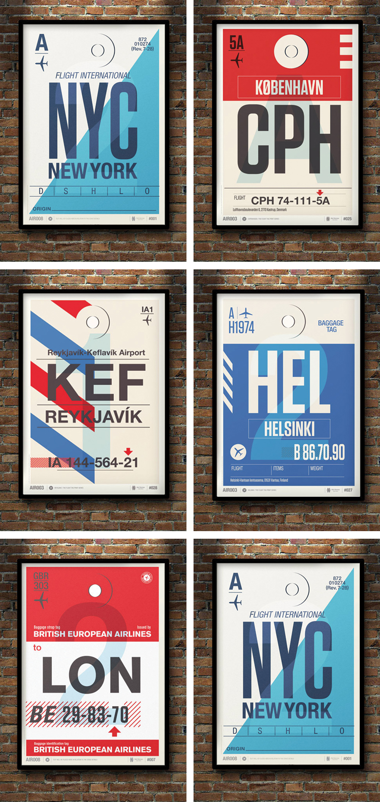 Neil Stevens Flight Tag Posters | www.alicia-carvalho.com