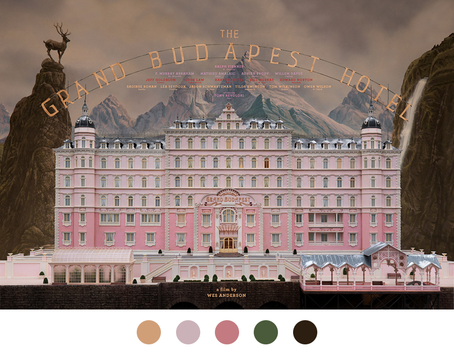 The Grand Hotel Budapest by Wes Anderson, Colour Inspiration | www.alicia-carvalho.com