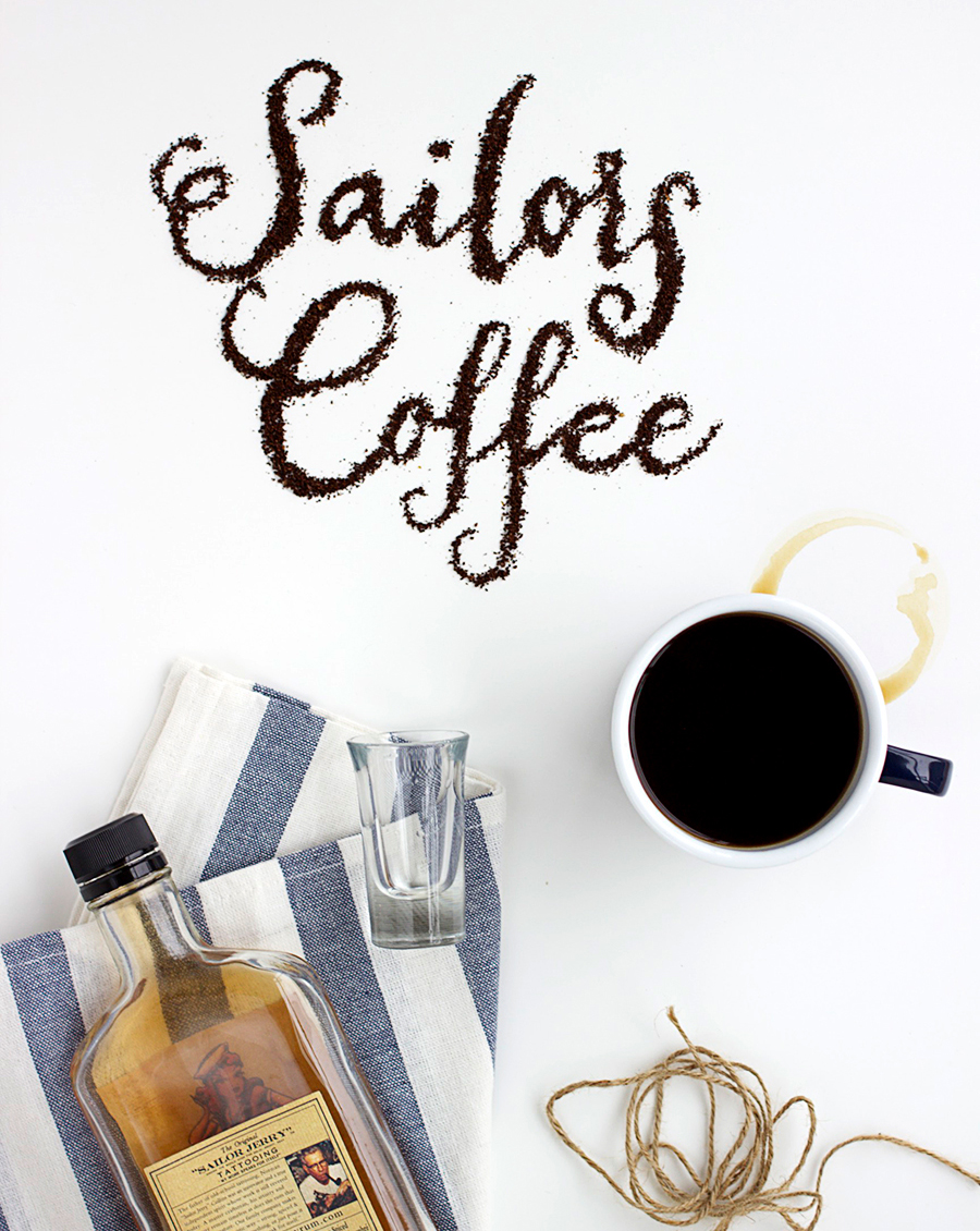 Sailor's Coffee. A Collaboration between The Artful Desperado and Alicia Carvalho | www.alicia-carvalho.com