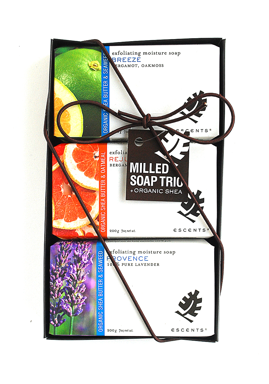 Escents Aromatherapy Milled Soap Trio Packaging Design | www.alicia-carvalho.com