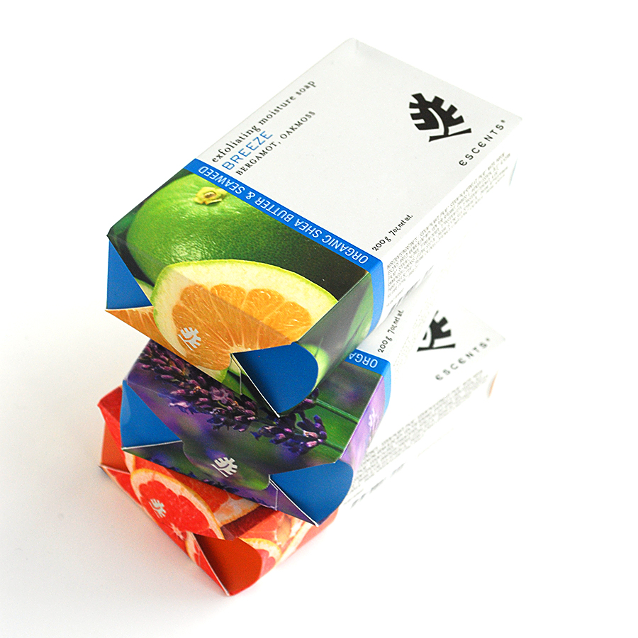 Escents Aromatherapy Milled Soap Packaging Design | www.alicia-carvalho.com