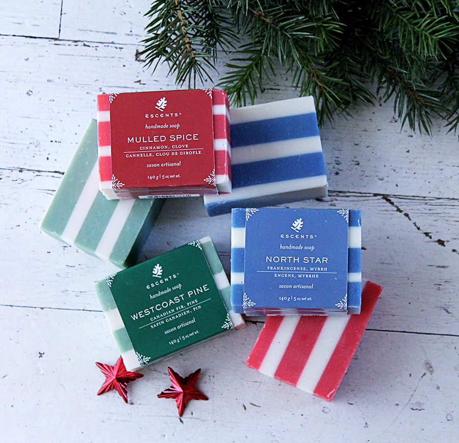 Escents Aromatherapy Holiday Collection, Soap Packaging Design | www.alicia-carvalho.com