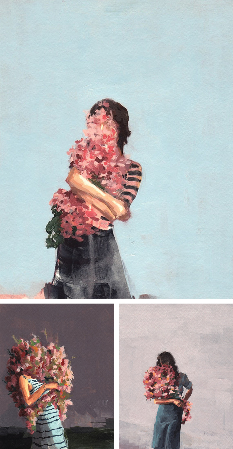 Beautiful floral paintings by Clare Elsaesser | www.alicia-carvalho.com/blog