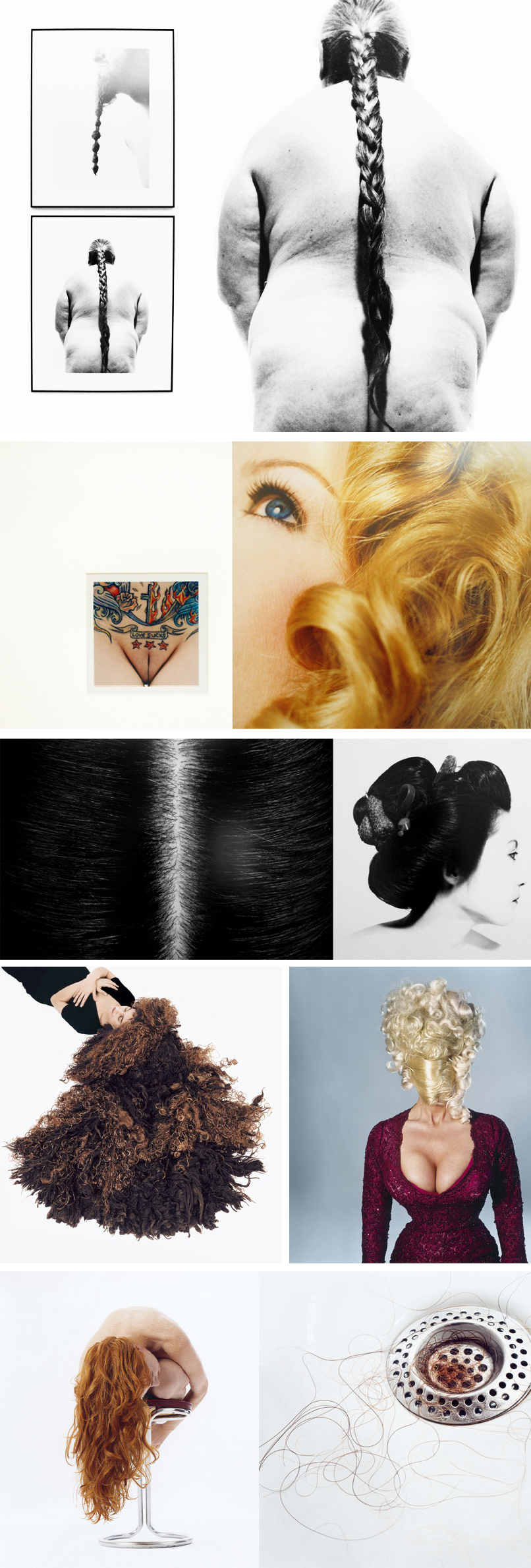 from the exhibit Haare (Hair) by Herlinde Koelbl  | www.alicia-carvalho.com/blog