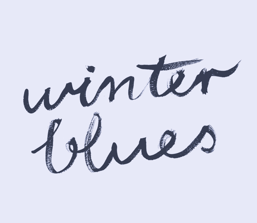 Winter Blues. Watercolour art therapy | www.alicia-carvalho.com/blog