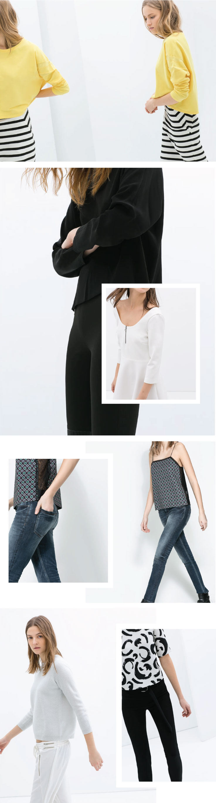 Inspired by Zara's dynamic product pictures. Look Book inspiration | www.alicia-carvalho.com/blog