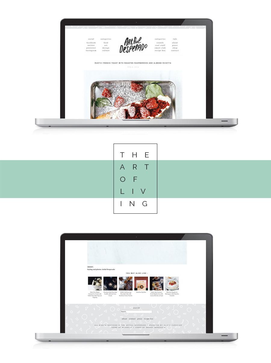 the Artful Desperado Re-Brand. Minimal and clean blog design. Branding by Alicia Carvalho | www.alicia-carvalho.com