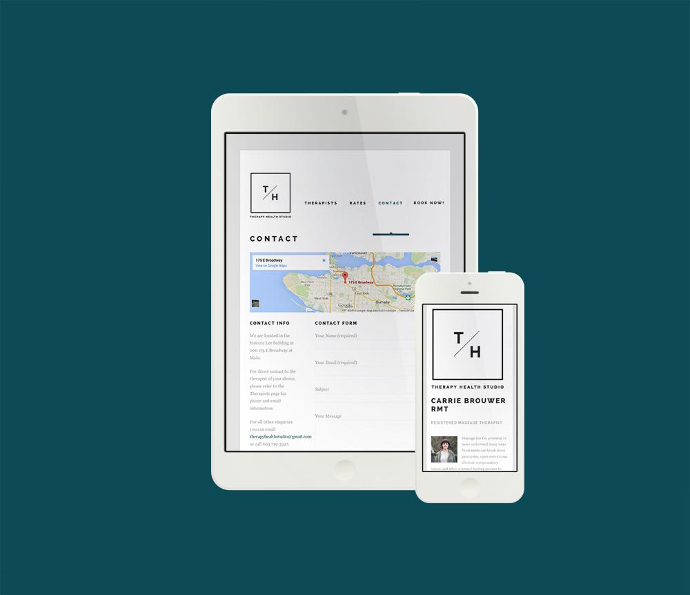 Therapy Health Studio Responsive Website | design by www.alicia-carvalho.com