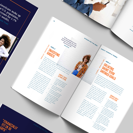 corporate presentation report design and layout