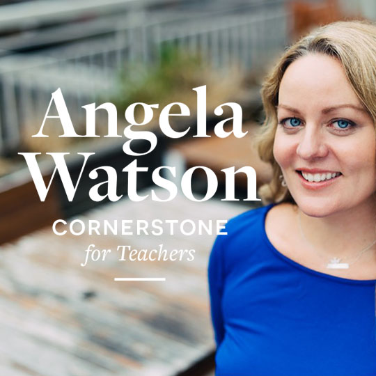 Logo design and branding suite for Angela Watson The Cornerstone for Teachers