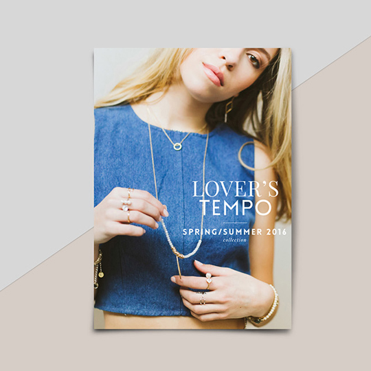 Lookbook layout design and product catalogue for Vancouver based jewellery brand Lover's Tempo