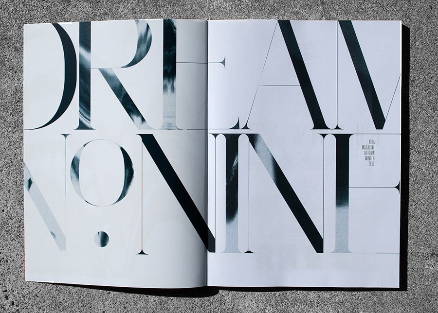 Custom Typeface for Rika Magazine. Autumn/Winter 2013 | www.alicia-carvalho.com/blog