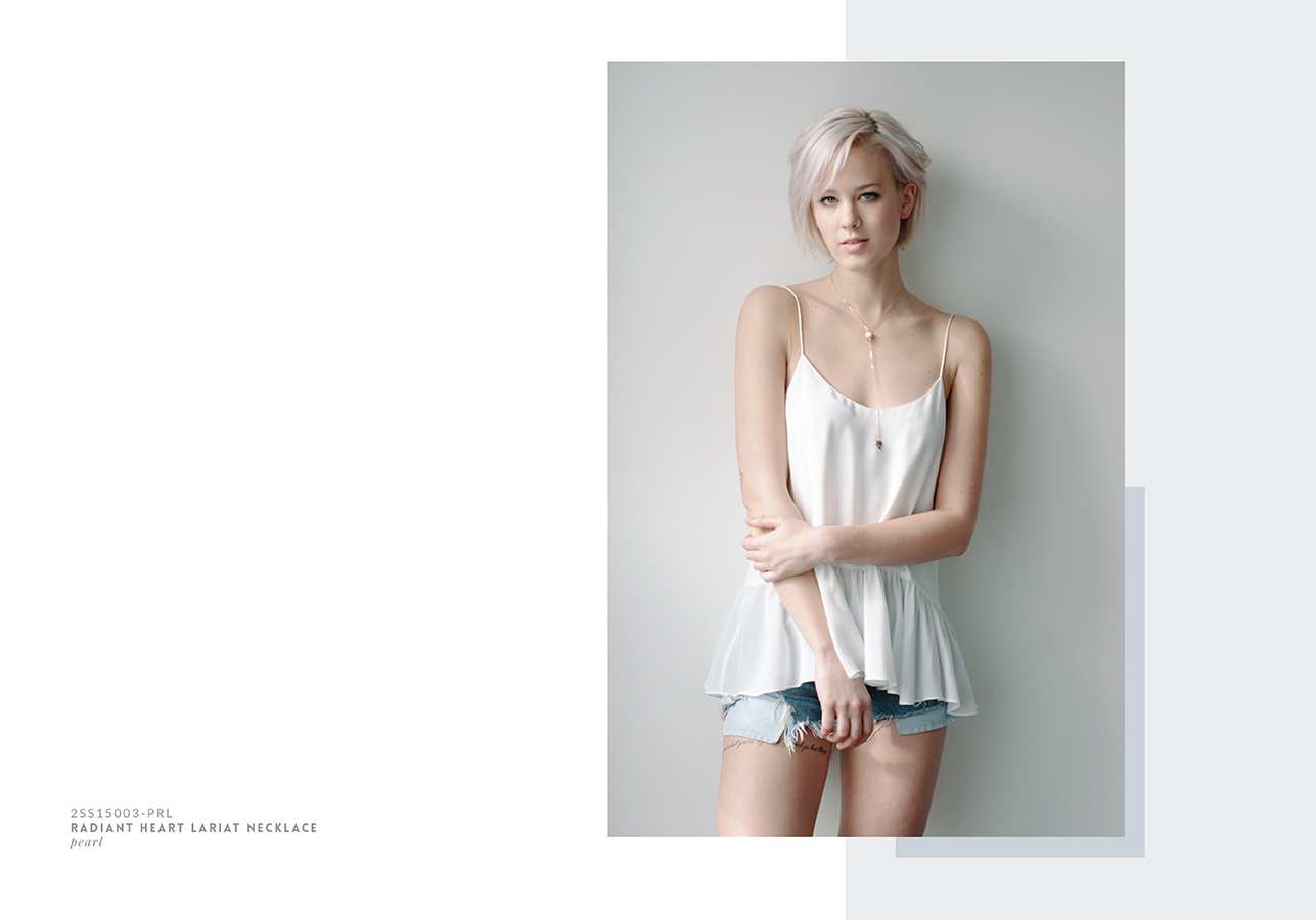 Lover's Tempo Spring/Summer 2015 collection Look Book, layout design. Soft pastels inspired by spring blooms and starry summer night skies |www.alicia-carvalho.com
