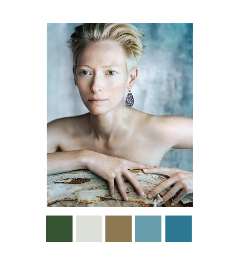 Tilda Swinton colour inspiration | www.alicia-carvalho.com/blog