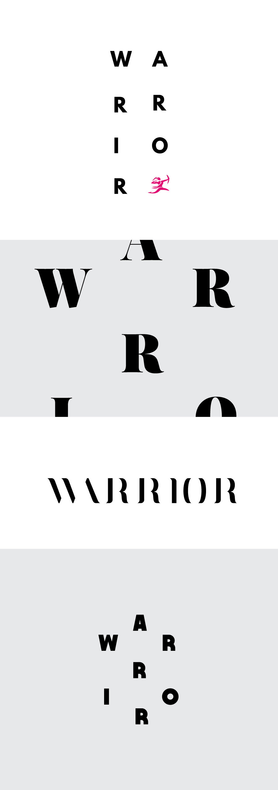 "Custom Type ""Warrior"" Concepts for the Woman2Warrior 2015 social campaign 