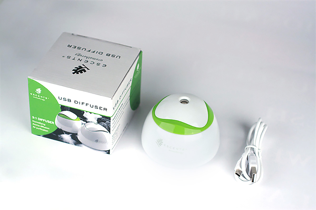 Escents Aromatherapy Ultrasonic Diffuser Packaging Design | www.alicia-carvalho.com