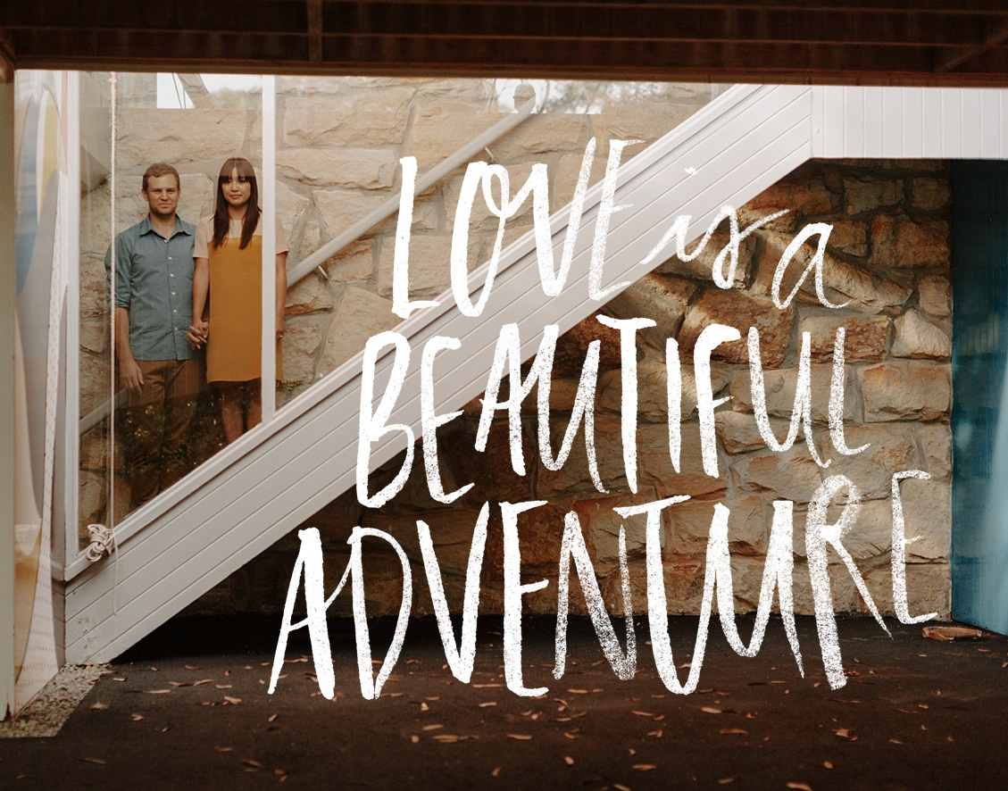 Love Is a beautiful Advneture, custom watercolour type for I Love Wednesdays | www.alicia-carvalho.com
