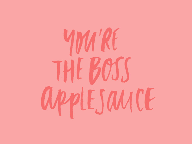 You're The Boss Applesauce, Andy Warhol, custom type project | www.alicia-carvalho.com