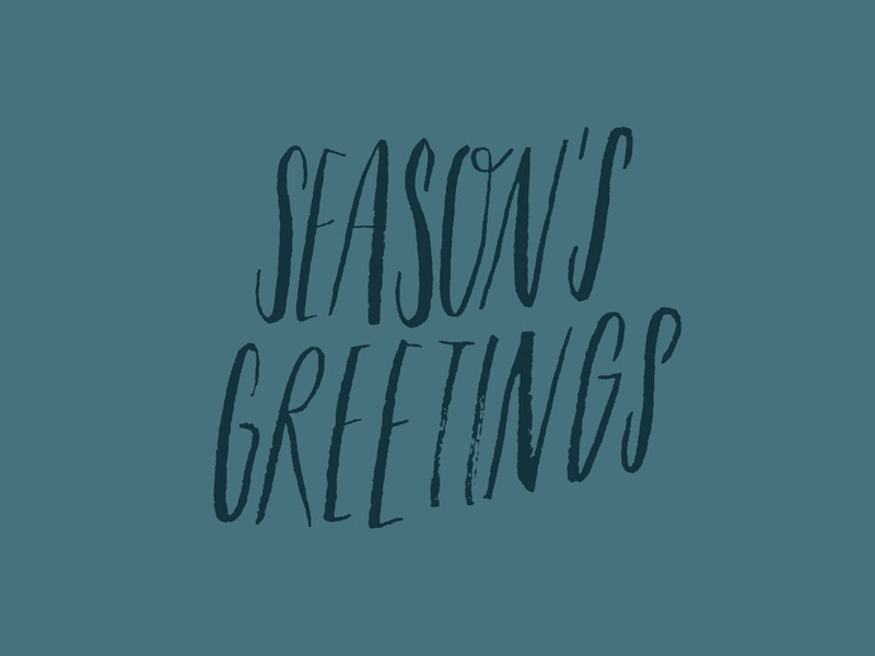 Season's Greetings, custom type project | www.alicia-carvalho.com