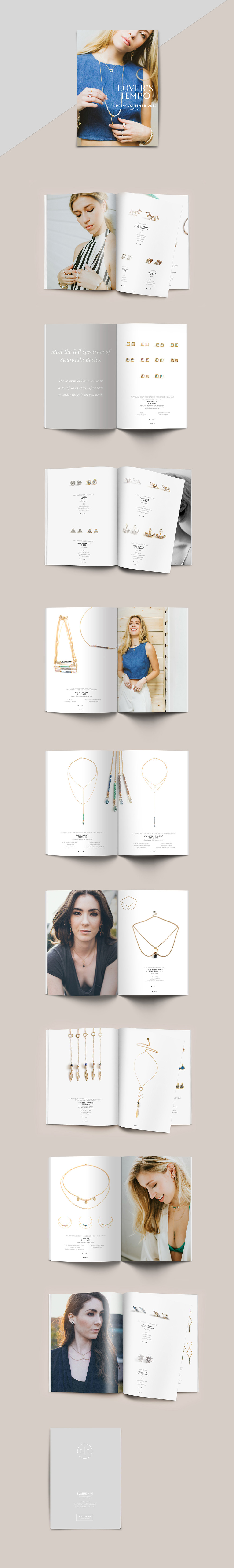SS17 Lover's Tempo jewellery Lookbook layout Design | www.alicia-carvalho.com