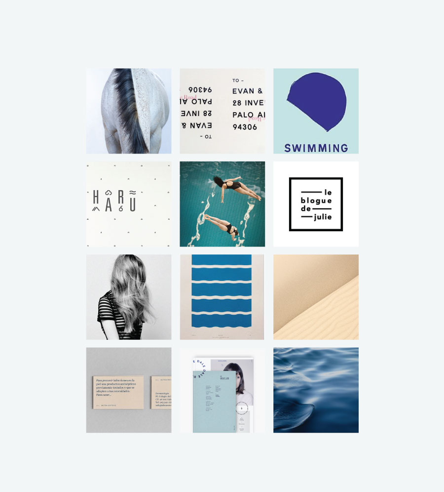 Brand Moodboard Blue - colour theory | www.alicia-carvalho.com