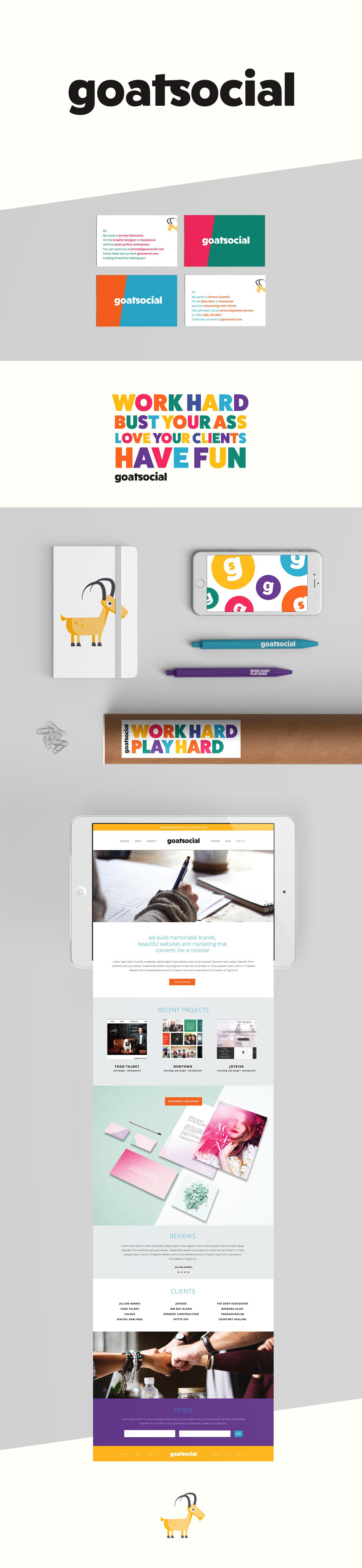 Goatsocial Web Agency Branding | www.alicia-carvalho.com