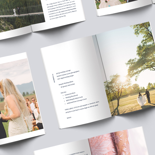 Mini Magazine Layout Design for Vancouver based Wedding Photographer The Nickersons