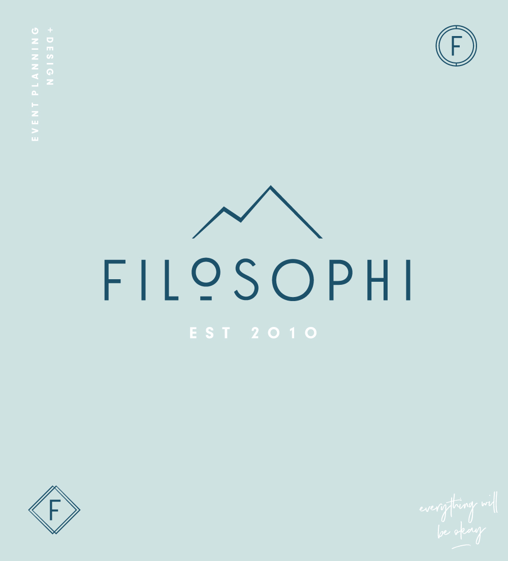Filosophi Wedding Planning and Events logo and branding design Vancouver | www.alicia-carvalho.com
