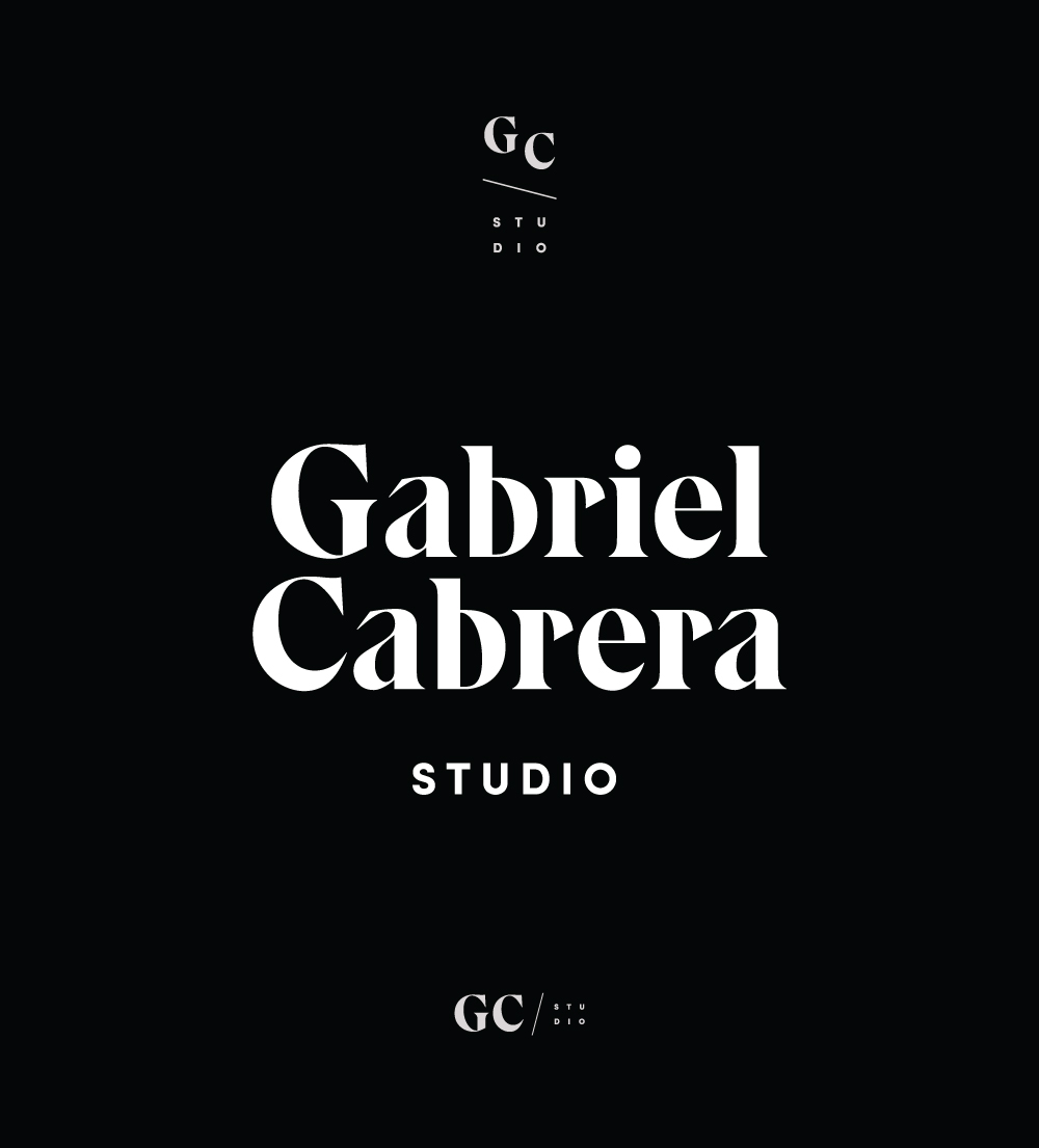 Gabriel Cabrera Studio, photography and styling, branding, logo, wordmark and icon | www.alicia-carvalho.com