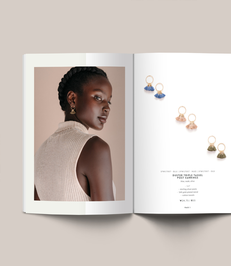 Vancouver based Jewelry Line sheet, Lookbook and Catalogue Design | www.alicia-carvalho.com