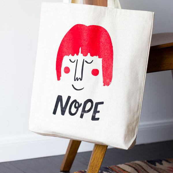 Nope Tote by Chipper Things | www.alicia-carvalho.com