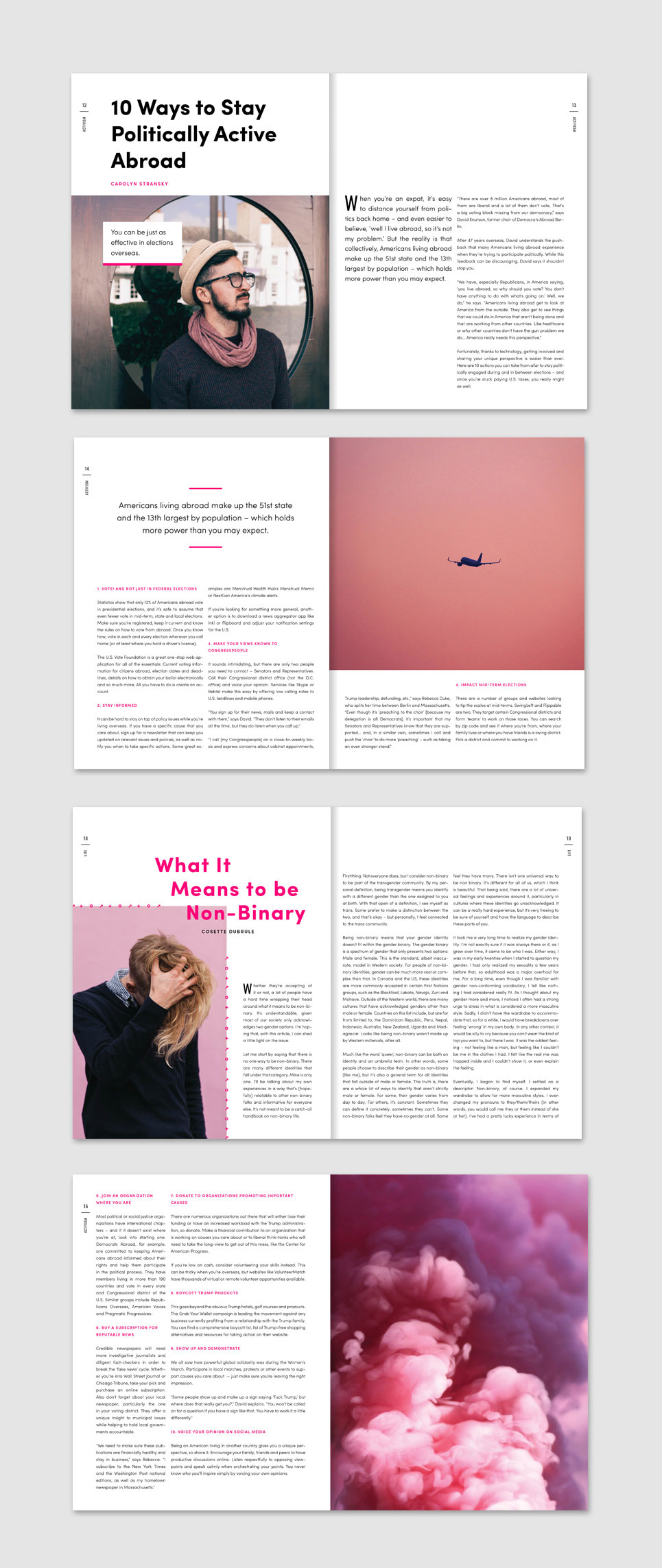 FLURT Magazine print design and editorial layout. Interview series layout.    www.alicia-carvalho.com