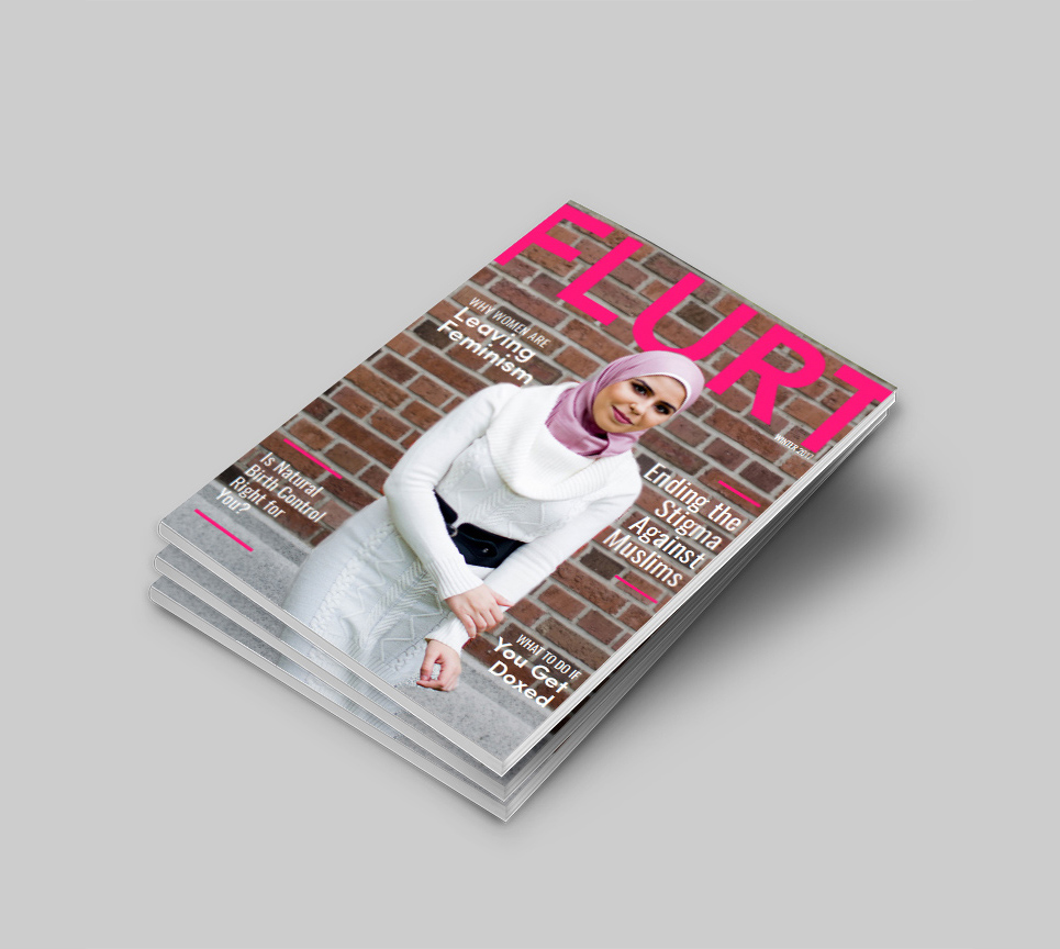 FLURT Magazine print design and editorial layout. Magazine Cover Design Winter 2017   www.alicia-carvalho.com