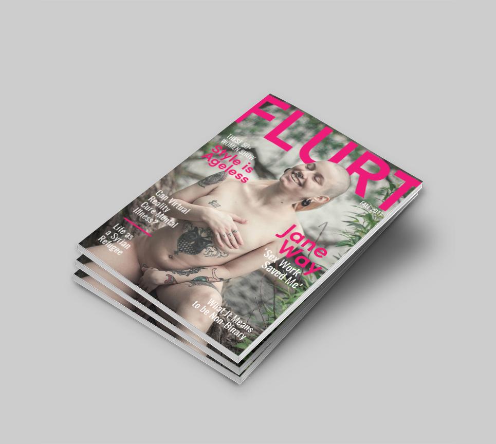FLURT Magazine print design and editorial layout. Magazine Cover Design Fall 2017.  | www.alicia-carvalho.com