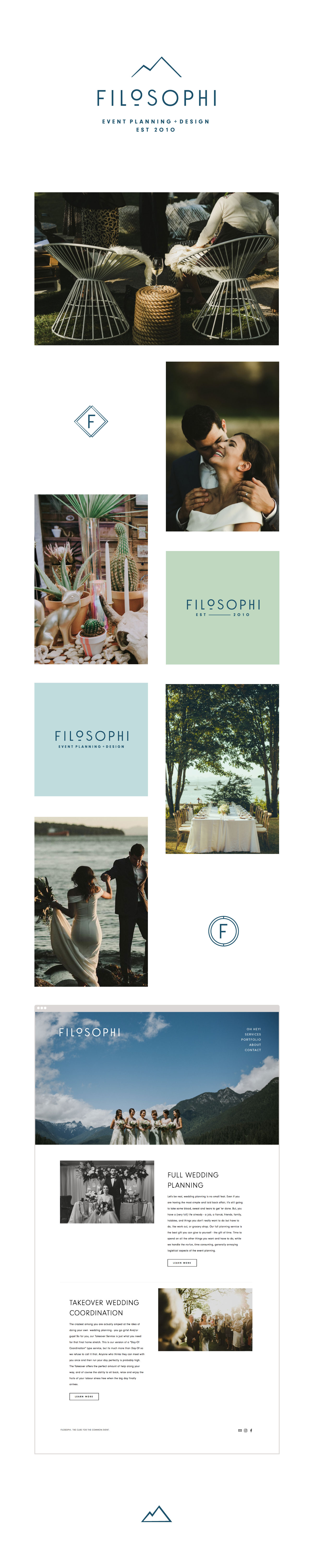 Filosophi Wedding + Event Planning Branding | www.alicia-carvalho.com