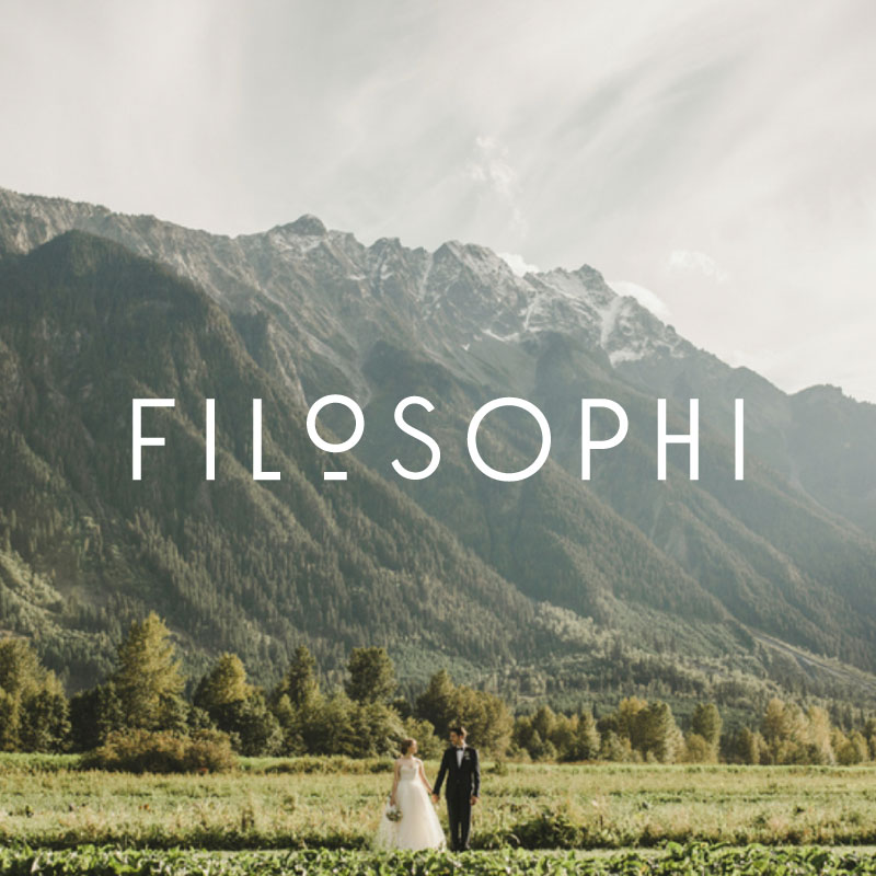 Filosophi Wedding and Event Planning Logo and Branding Design | www.alicia-carvalho.com