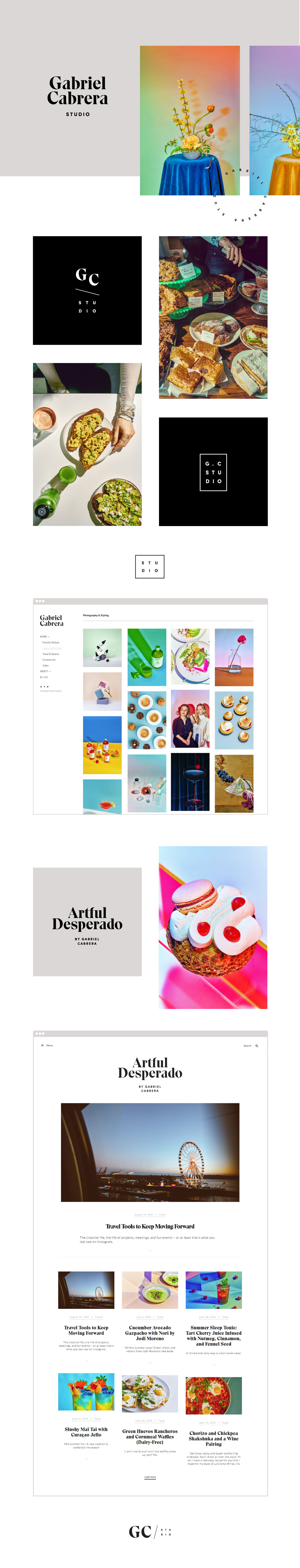 Gabriel Cabrera Photography Studio Branding | www.alicia-carvalho.com