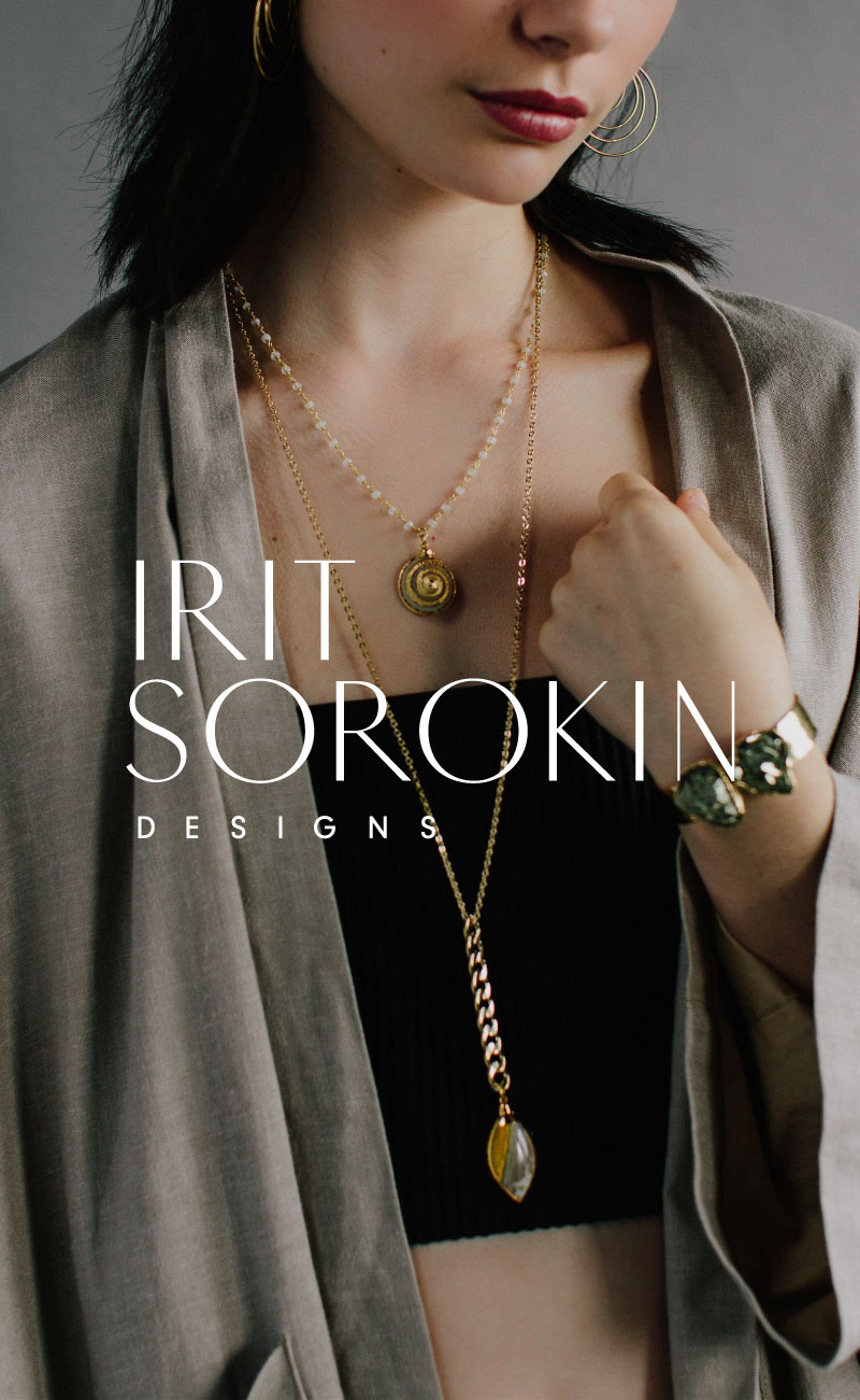 Irit Sorokin Jewelry Designer Logo, Branding, Packaging and Print Design | www.alicia-carvalho.com