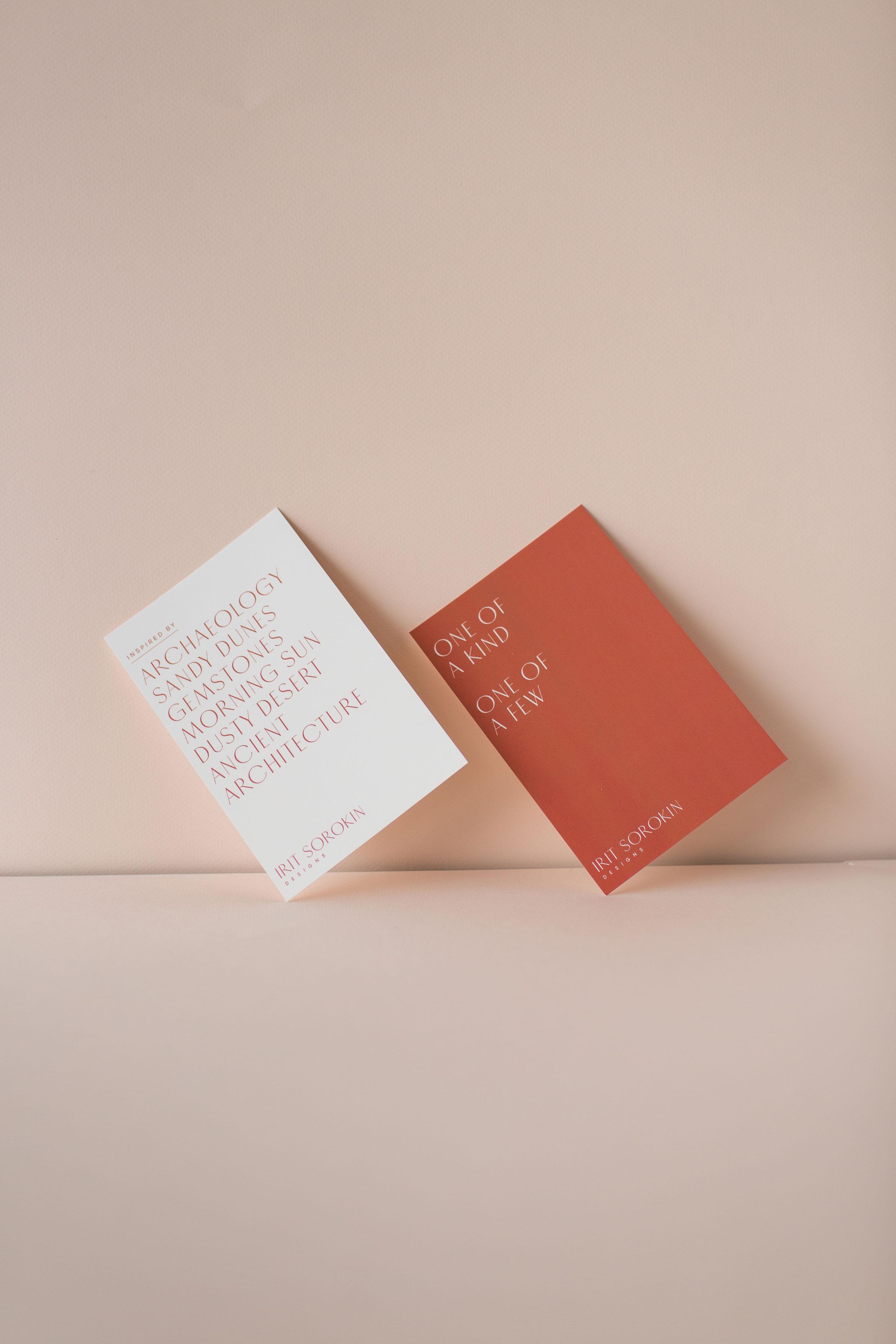 Irit Sorokin Jewellery printed Postcard Design | www.alicia-carvalho.com