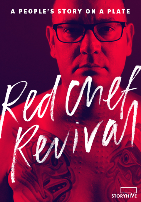 Shane Chartrand Poster for award winning documentary series Red Chef Revival by Black Rhino Creative | www.alicia-carvalho.com