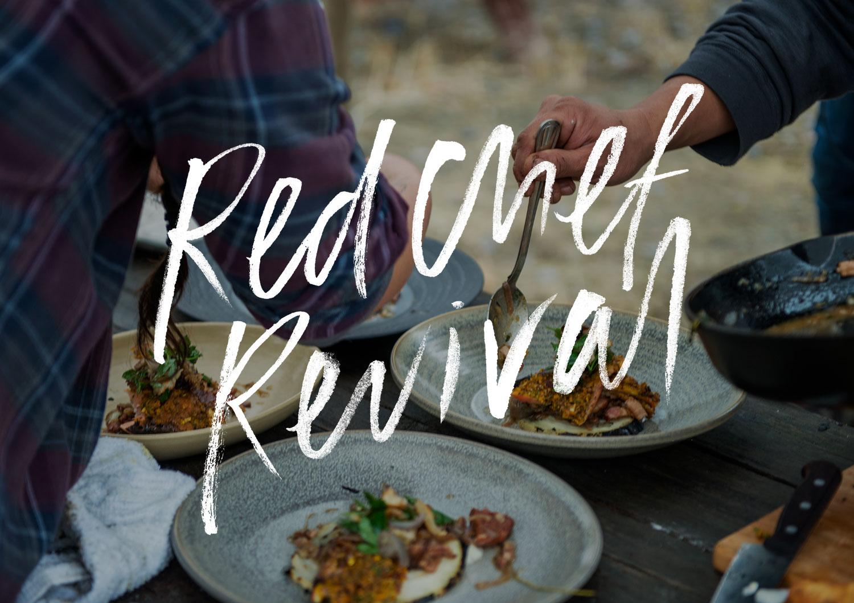 Custom brush logomark for award winning documentary series Red Chef Revival by Black Rhino Creative | www.alicia-carvalho.com