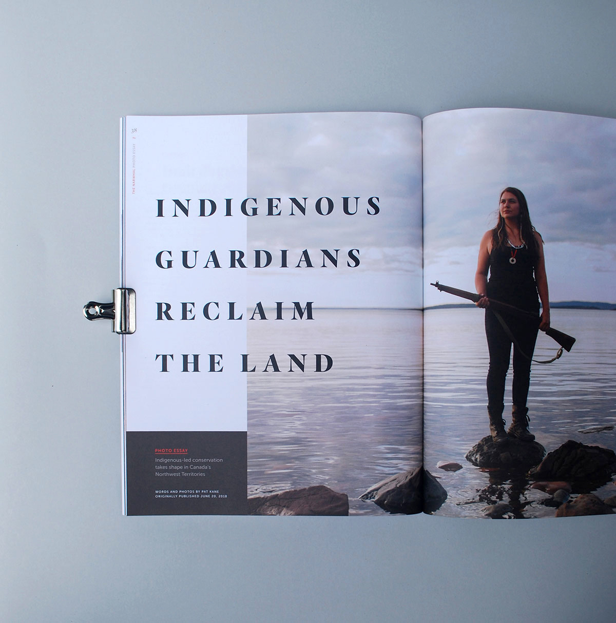 The Narwhal Magazine, photoessay introduction editorial layout design, Indigenous Guardians Reclaim the Land, photography by Pat Kane  | www.alicia-carvalho.com